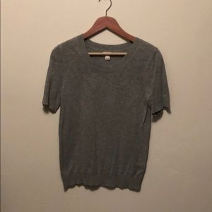 J.Crew Small GUC cotton short sleeve top grey